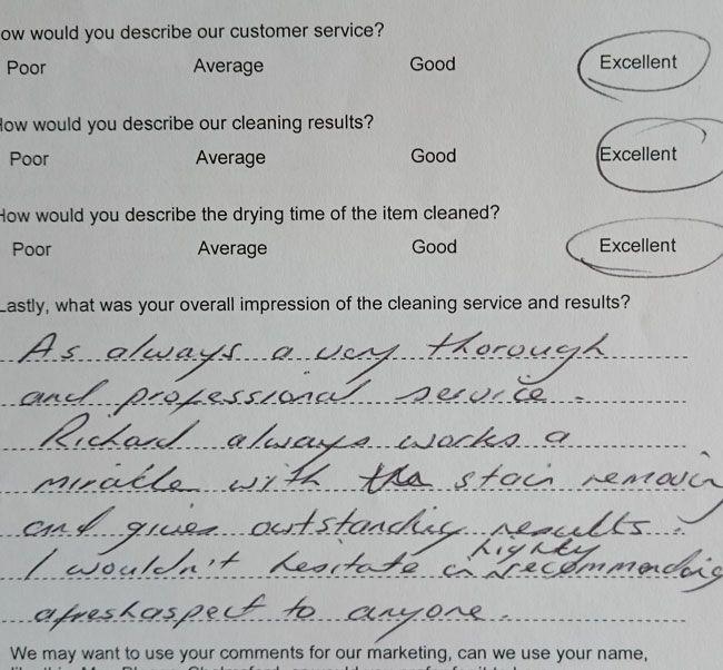 Mrs Dennis testimonial Chelmsford
