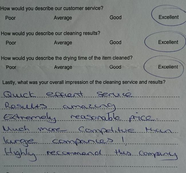 Mrs Fairlie testimonials Chelmsford